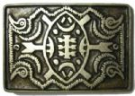 Zulu Shield Belt Buckle with display stand